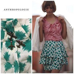 Anthropologie Landing field skirt